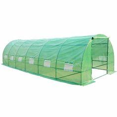 Amazon.com: Outsunny 26' x 10' x 7'   Portable Walk-In Garden Greenhouse    Patio Lawn & Garden