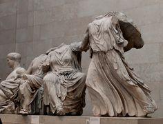 "Phidias (Greek sculptor), ""Elgin Marbles"" from the Parthenon, 447–438 BCE, British Museum, London."