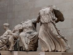 "Phidias (Greek sculptor), ""Elgin Marbles"" from the Parthenon, 447–438 BCE, British Museum, London."