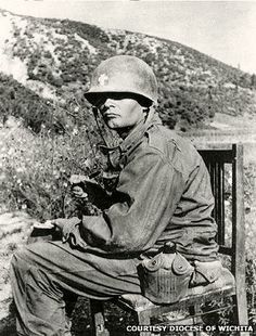 U.S. Medal Of Honor Recipient, Father Kapaun.  On August 2, 1950. Chaplain Kapaun received information that there was a wounded man in an exposed position. With total disregard for personal safety, Chaplain Kapaun and his companion went after the wounded man. The entire route to the wounded soldier was under intense enemy machine gun and small arms fire. However, Chaplain Kapaun successfully evacuated the soldier, thereby saving the soldier.  Father Kapaun later died in a POW camp in Korea.