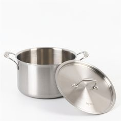 Stainless Steel Stock Pot with Steel Cover // 24cm  Price: 134.19 & FREE Shipping  #freeshipping