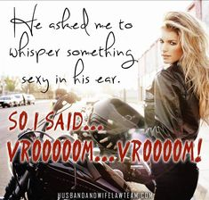 Motorcycle humor with a Victoria Secret Angel