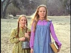 Melissa Gilbert and Melissa Sue Anderson, Laura and Mary on Little House on the Prairie