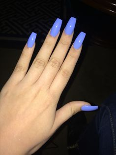 Nailed it... #nails Powder blue coffin nail!