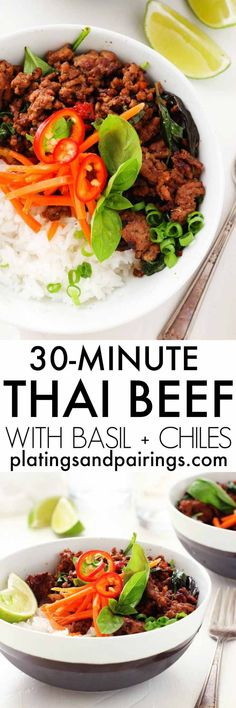 This Thai Beef with Chiles and Basil will be on your dinner table in less than…