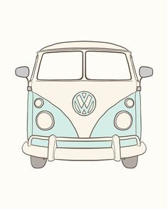 Pin by Pia Annas on bulli love in 2020 Volkswagen Bus, Bully Vw, Combi Hippie, Van Drawing, What Is Canvas, Bus Art, Art Sur Toile, Aesthetic Drawing, Aesthetic Stickers