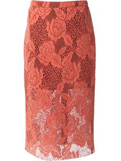 Shop MSGM lace pencil skirt in Bernard from the world's best independent boutiques at farfetch.com. Over 1000 designers from 60 boutiques in one website.