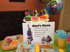 Trolls birthday party menu