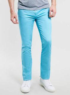 Bright Blue Ultra Skinny Trousers - $75