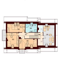 DOM.PL™ - Projekt domu DN KARMELITA BIS 2M CE - DOM PC1-47 - gotowy koszt budowy Floor Plans, Exterior, Modern, Projects, Two Story Houses, Country Houses, Log Projects, Trendy Tree, Blue Prints