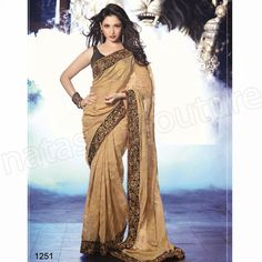 Chiku Color Silk Jacquard Embroidery Designer Bollywood Saree With Blouse #silkjacquard #chikucolor #embroiderysaree #designersarees #easyshopindia #freeshipping #womenshopping #onlineshopping #floralprints #printedsaree #bestcollection #bestpriceonlineshop #georgettesaree #formalwear #casualwear #partyweardress #silksaree #cashondeliveryavailable