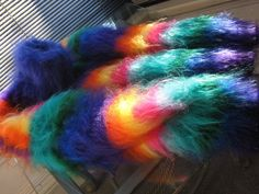 Stunning colors. Angora Sweater, Plaid Scarf, Pullover, Heavenly, Hair Styles, Sweaters, Colors, Hair Plait Styles, Hair Makeup