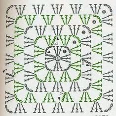 Traditional granny square diagram.