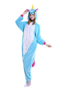 795ee03744 kigurumi blue Pegasus onesies animal pajamas for adults