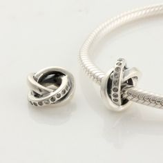 Sterling Silver Circle White Birthstone Charms - Charms with Stones - Charms - LYDIA JEWELLERY