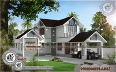 Gallery of Kerala home design, floor plans, elevations, interiors designs and other house related products Small Contemporary House Plans, Modern House Floor Plans, Simple House Plans, Beautiful House Plans, Duplex House Plans, Free House Design, House Front Design, Small House Design, Double Storey House Plans