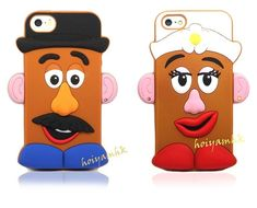 New 3D Toy Story Mr Potato Head Couple Silicone Soft Case for iPhone 4(S)/5(S)