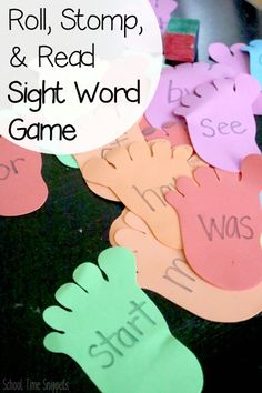 Fun hands-on game to get kiddos moving and reading sight words! Teaching Sight Words, Sight Word Practice, Sight Word Games, Sight Word Activities, Preschool Learning, Fun Learning, Preschool Activities, Therapy Activities, Educational Activities