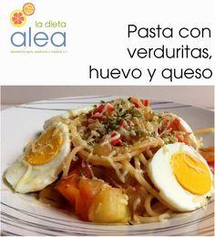 La dieta ALEA -  blog de nutrición y dietética, trucos para adelgazar, recetas para adelgazar: Pasta con verduritas, huevo y queso