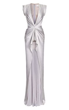 Silver Evening Gowns, Grey Evening Dresses, Formal Dresses, Long Dresses, Grey Chiffon Dress, Chiffon Gown, Grey Gown, Gray Dress, Ruched Dress