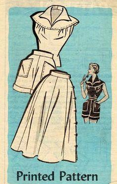 1950s BEACH WEAR WEEKEND PATTERN BLOUSE, SHORTS, SIDE BUTTON SKIRT ANNE ADAMS 4820