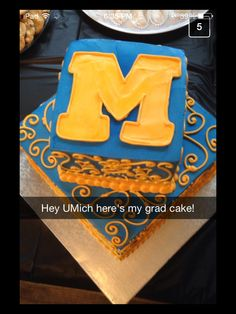 Umich graduation cake sent from one of our Snapchat followers!