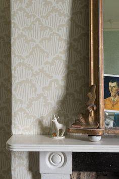 Farrow and Ball wallpaper.