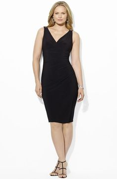 Lauren Ralph Lauren Embellished Matte Jersey Dress (Plus Size) available at #Nordstrom