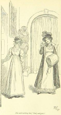 Jane Austen Mansfield Park – She said nothing, however, but, Sad, sad girl! Jane Austen Mansfield Park, Love Illustration, Classic Literature, Sad Girl, British Library, Romance, Pride And Prejudice, Period Dramas, Illustrations