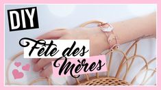 DIY Cadeau Fête des Mères facile ! Family DIY Ft. Allo Maman Four X, Jewelery, Jewelry Bracelets, Diy Cadeau, Mom Day, Jewlery, Jewels, Jewerly, Jewelry