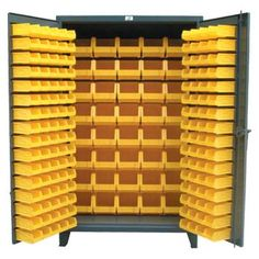All Bin Cabinet   Our Heavy Duty All Bin Cabinet With Bins On The Doors And  In The Body. Locking Device Can Be Locked With A Standard Padlock.