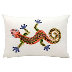 Mina Victory 12 x 18 in. Lizard Outdoor Throw Pillow - Outdoor Pillows at Hayneedle