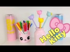 Manualidades KAWAII,como decorar lápices de HELLO KITTY - YouTube