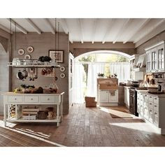 Pictures of small country kitchens found on Polyvore