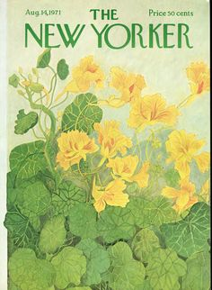 1971 | The New Yorker Covers / nasturtiums