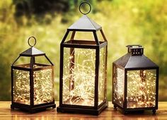 Fairy lights, Great buy, Battery operated led lights with the smallest battery pack on the market for a strand of suspended stars✨ LANTERNS SOLD SEPERATELY Starry lights✨ Gorgeous lights on a copper c #WeddingDecorations #outdoorweddingdecorations