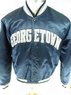 927566c69adcdd Vintage 80s Starter Georgetown University satin jacket. Find more men s and  women s authentic vintage clothing
