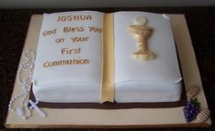 Bible cake for a boy's First Communion by cakespace - Beth (Chantilly Cake Designs), via Flickr