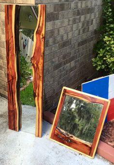 Live edge cedar mirrors