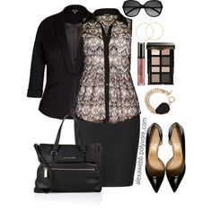 """#plus #size #outfit """"Plus Size - Office Chic"""" by alexawebb on Polyvore @alexandrawebb"""