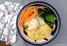 rýchly vegan obed - zeler a polentová kaša
