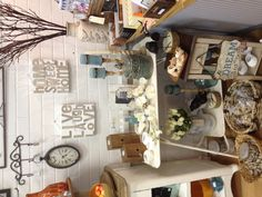 Beachy shop display
