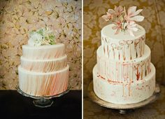 watercolor wedding cakes by Sweet Sensations