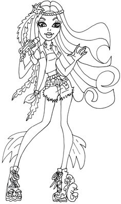 free printable monster high coloring pages for kids monster high