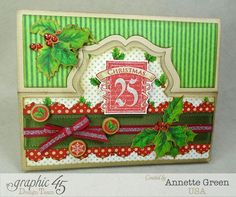 graphic 45 twas the night before christmas | Graphic 45 Twas the Night Before Christmas Patterns & Solids 6x6 Paper ...