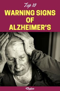 warning signs of Alzheimer's you should not ignore.