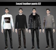 Leather pants 02 at Seze via Sims 4 Updates