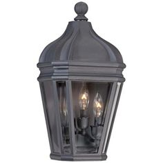 the great outdoors by Minka Lavery Harrison Black Outdoor Wall Mount Lantern at The Home Depot - Mobile Wall Lights, Beveled Glass, Pocket Light, Wall Mount Lantern, Outdoor Wall Sconce, Outdoor Walls, Metal Candle, Wall Sconce Lighting, Light