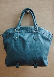 Ruche ~ midnight sea top handle purse