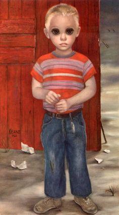 1960's big eye painting Keane